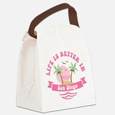 Life's Better In San Diego Canvas Lunch Bag