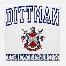 DITTMAN University Tile Coaster