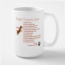 Beagle Property Laws Large Mug