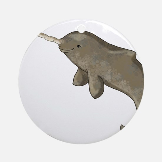 Narwhal Ornament (Round)