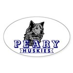Husky Logo Oval Sticker