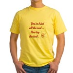 NOW TRY THE BEST Yellow T-Shirt