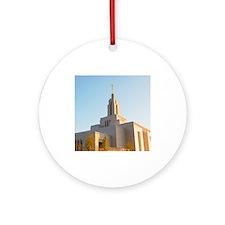 LDS Draper Utah Temple Ornament (Round)