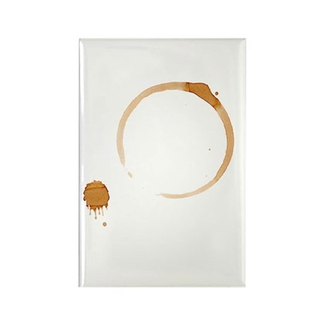 Coffee Stain Rectangle Magnet