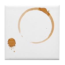 Coffee Stain Tile Coaster