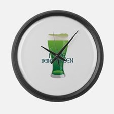 Love Being Green Large Wall Clock