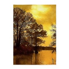 Autumn Lake Sunset 5'x7'Area Rug