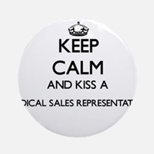 Keep calm and kiss a Medical Sale Ornament (Round)