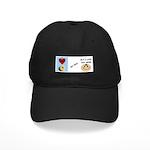 I LOVE DONUTS BUT I LOVE YOU MORE Black Cap
