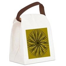 Muted Yellow Starburst Canvas Lunch Bag
