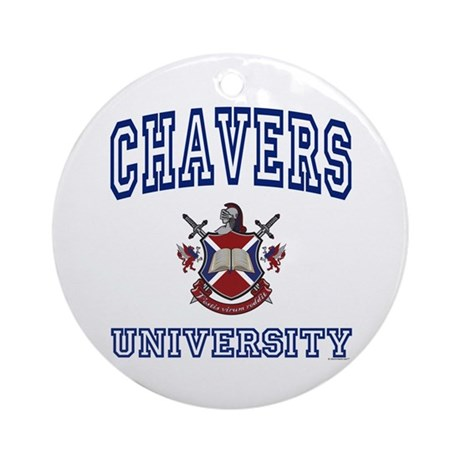 CHAVERS University Ornament (Round)