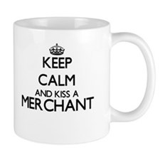 Keep calm and kiss a Merchant Mugs