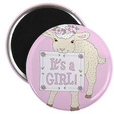 ann-lamb-girl-tile Magnets