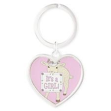 ann-lamb-girl-tile Keychains