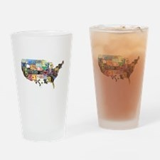 america license Drinking Glass