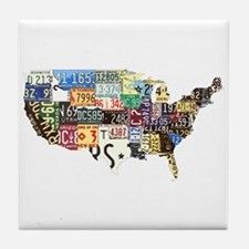 america license Tile Coaster