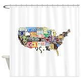 Antique map Shower Curtains