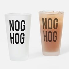 Nog Hog Eggnog Drinking Glass