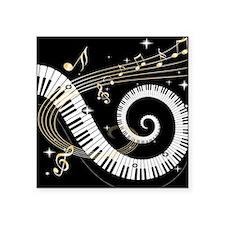 """Cool Piano Square Sticker 3"""" x 3"""""""