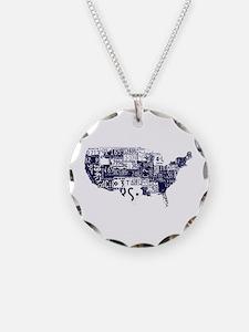 america license Necklace
