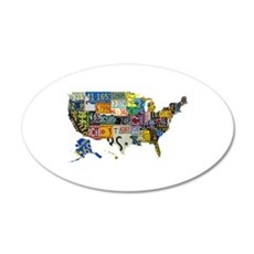 america license Wall Decal
