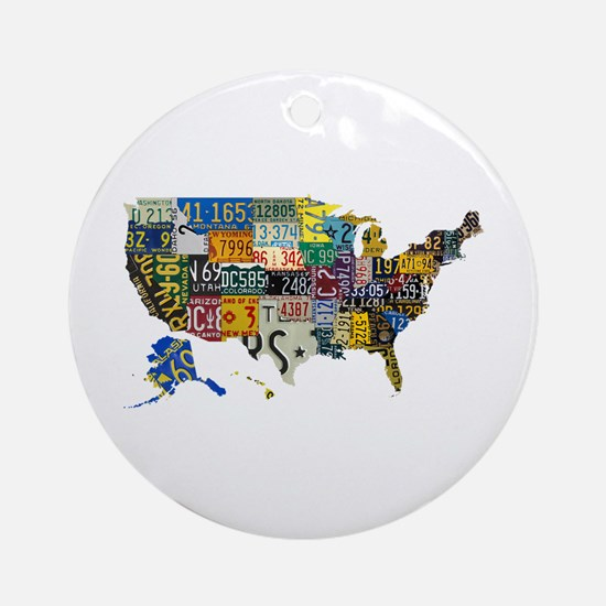 america license Ornament (Round)