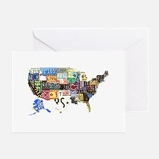 america license Greeting Card