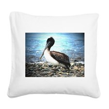 Time Out Pelican Square Canvas Pillow