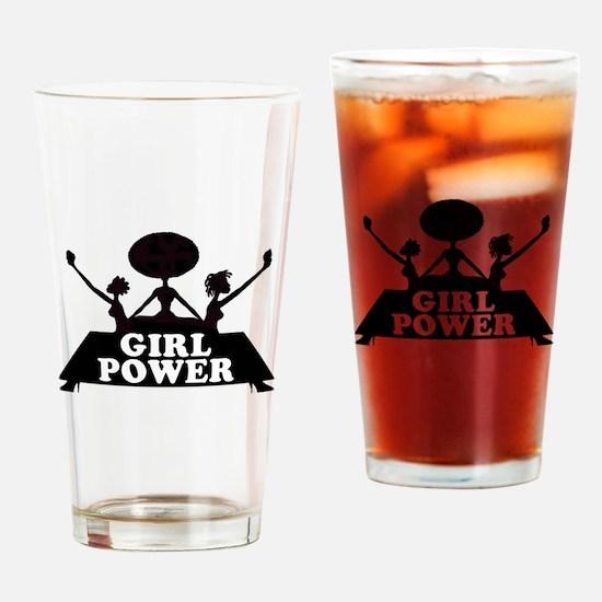 Girl Power Drinking Glass