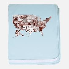 america license baby blanket