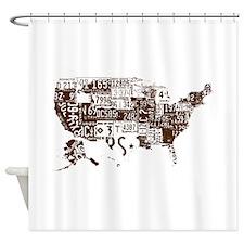 america license Shower Curtain