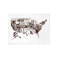 america license 5'x7'Area Rug