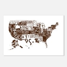 america license Postcards (Package of 8)