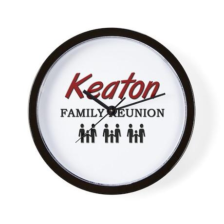 Keaton Family Reunion Wall Clock