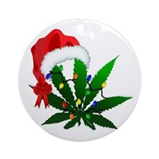 Weed Holiday Tree Ornament (round)