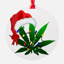 Weed Holiday Tree Ornament