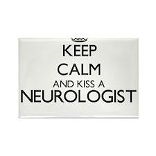 Keep calm and kiss a Neurologist Magnets