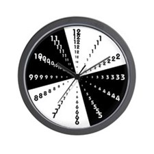 Funky black&white Wall Clock