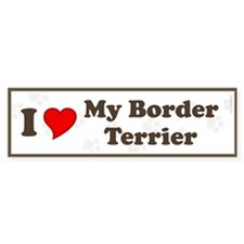 I Love My Border Terrier Bumper Bumper Sticker