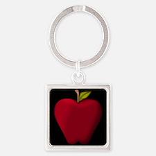 Red Apple on Black Keychains