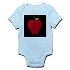 Red Apple on Black Body Suit