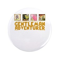 "Gentleman Adventurer 3.5"" Button"