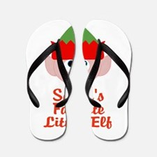 Santas Favorite Little Elf Flip Flops