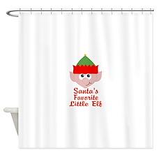 Santas Favorite Little Elf Shower Curtain