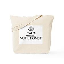 Keep calm and kiss a Nutritionist Tote Bag