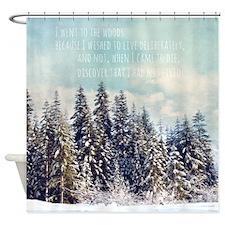 Evergreen Custom Quote Shower Curtain