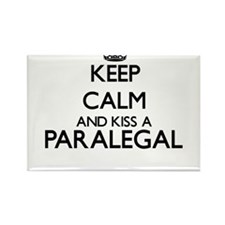 Keep calm and kiss a Paralegal Magnets