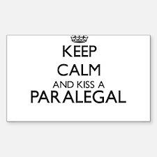 Keep calm and kiss a Paralegal Decal