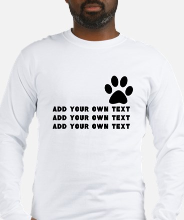Dog's paw Long Sleeve T-Shirt