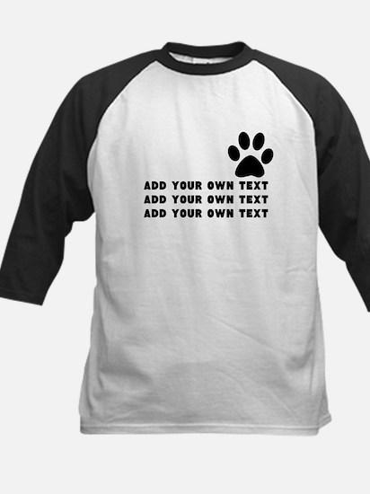 Dog's paw Kids Baseball Jersey